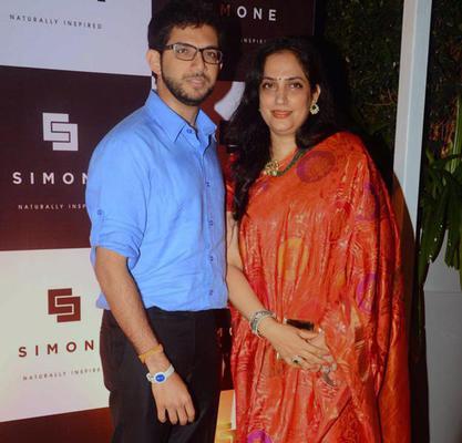 Aditya Thackeray Posed With Rashmi Thackeray At Simone Khan Arora Store Anniversary