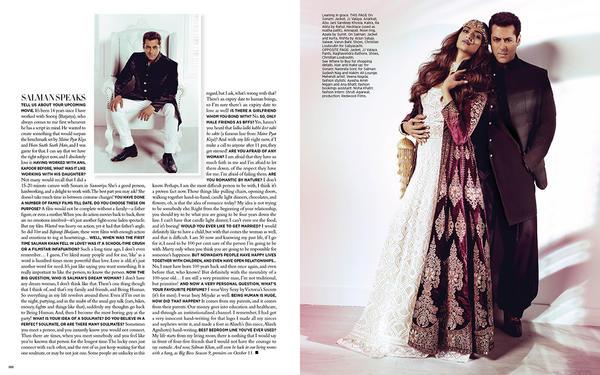 Salman And Sonam Graced On Harper's Bazaar Bride 2015 Issue