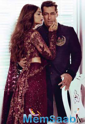 Sonam And Salman On The Cover Of Harper Bazzar 2015