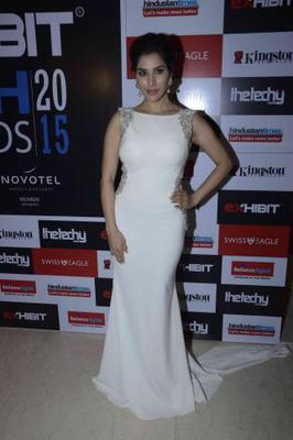 Sophie Choudry Glamour Look During Exhibit Tech Awards