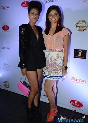 Nia Sharma And Rubina Dilaik Posed During The Telly Calendar Launch