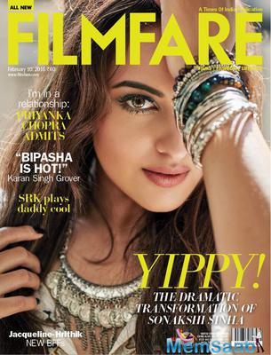 Dabaang Girl Sonakshi Sinha features on the Filmfare Magazine Feb issue 2016