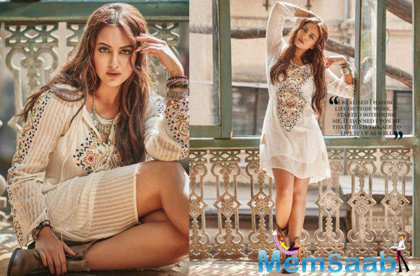 The gorgeous Sonakshi Sinha burning Pose for Filmfare magazine Feb issue 2016