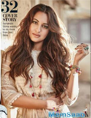 Sonakshi Sinha glams up Filmfare magazine Feb 2016 issue
