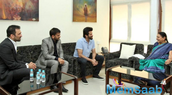 The notice was made this, shortly after the movie's producer, Atul Kasbekar, and Anil Kapoor held a brief meeting with Chief Minister Anandiben Patel in Gandhinagar.