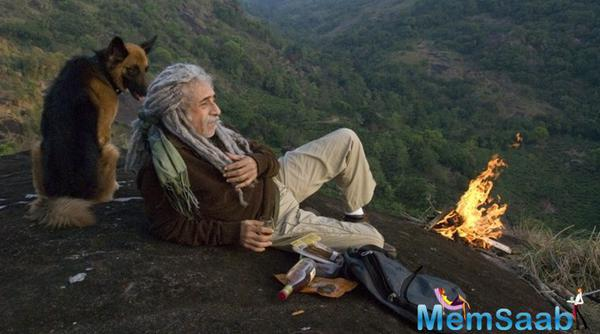 Naseeruddin Shah's unique look in The Blueberry Hunt
