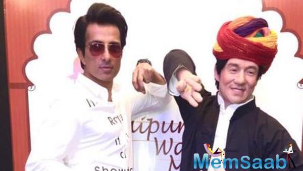 Jackie Chan gets wax statue in Jaipur