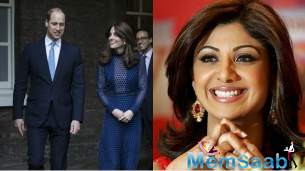 Shilpa Shetty excited over Prince William, Kate Middleton's visit