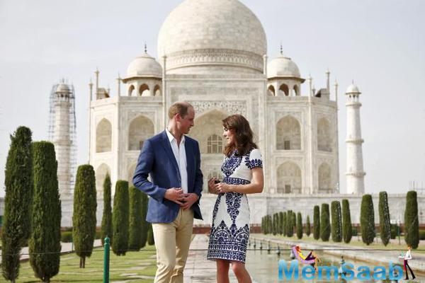 The British Royals, Prince William and Kate are visiting  India's historical places these days, here we put some moving pictures of both them romantic visit to Taj Mahal.