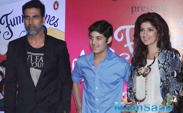Aarav made his parents Akshay and Twinkle proud