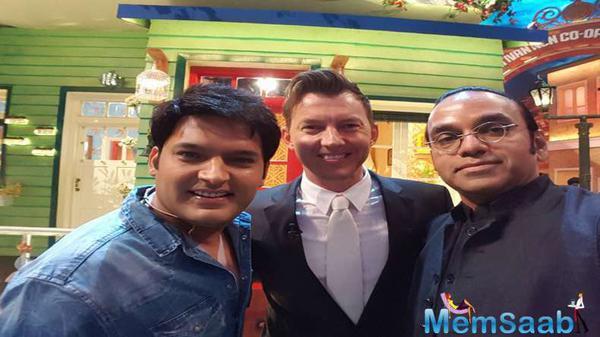 Brett Lee shot for a special episode of The Kapil Sharma Show
