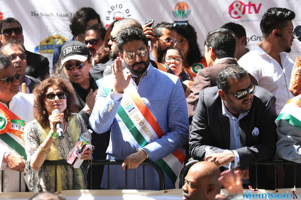 Junior Bachchan celebrates 36th India Day Parade in New York