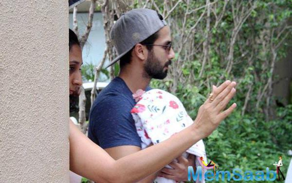 On Friday evening, Shahid Kapoor and Mira Kapoor became parents to a baby girl .The 35-year-old actor was spotted taking her bundle of joy home two days after her birth.