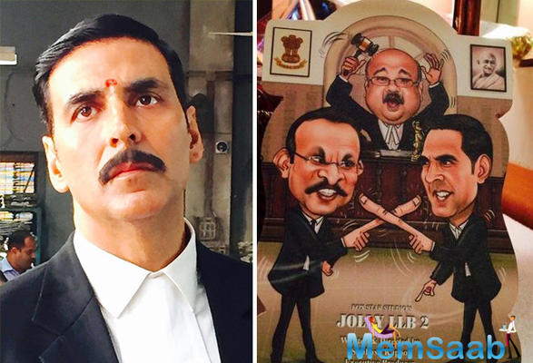 'Jolly LLB 2' also stars Huma Qureshi, Elli Avram, and Anu Kapoor, alongside Saurabh Shukla who'll be seen reprising his role from 'Jolly LLB'. He has started shooting for Jolly LLB 2 in the city of nawabs, Lucknow.
