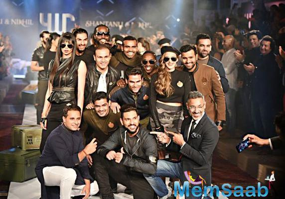 B-town celebs and cricketers attended Yuvraj Singh's fashion label event
