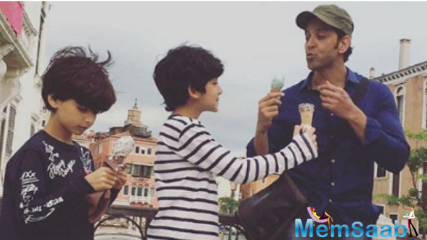 Regular outings:Cool dad Hrithik Roshan with his kids is just too charming