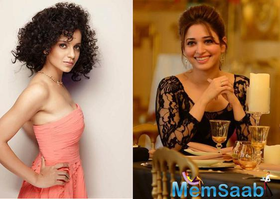 Acting queen Kangana Ranaut  : Am a very big fan of Tamannaah Bhatia's work