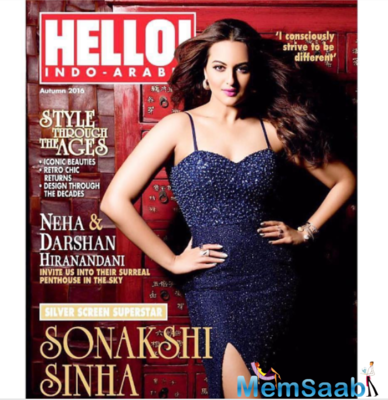 Silver screen Sonakshi Sinha blings on the cover of Hello Indo-Arabia!