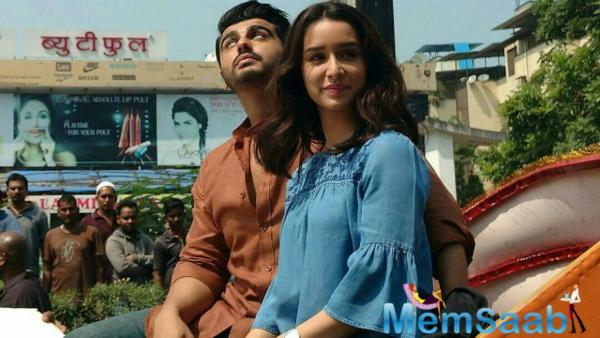 Arjun-Shraddha on the set's of 'Half Girlfriend' in Varanasi