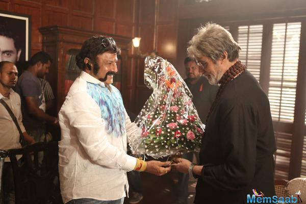 You want to know, why Balakrishna met Big B on the set's Sarkar 3? Find here