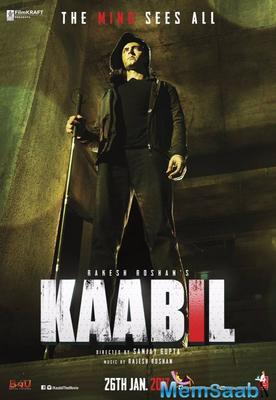 The teaser poster of Hrithik Roshan's Kaabil is out