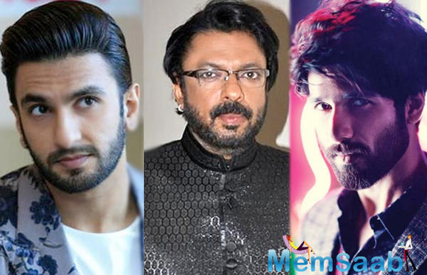 Historical drama sets erected at Mumbai's Mehboob studios, But Only Ranveer was present at the shoot.