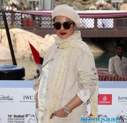 The 62-year beauty also did a photo shoot at the film festival where she sported a Middle Eastern look.