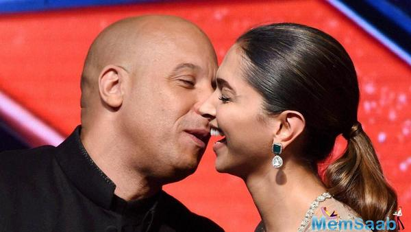 Vin Diesel and Deepika do the 'lungi' dance during the promotion of 'XXX : Return of Xander Cage