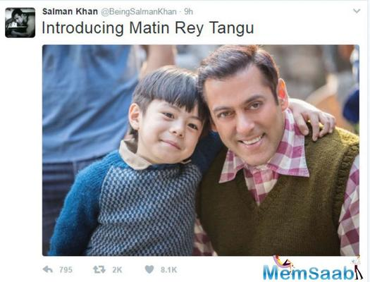 Here Salman introduces a little champ for Kabir Khan's Tubelight
