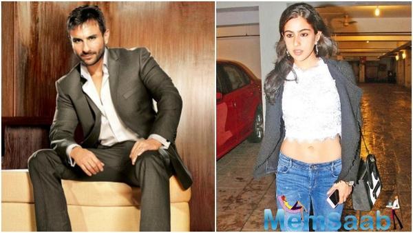 Saif Ali Khan confirmed his daughter Sara Ali Khan's debut with Karan Johar