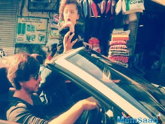 SRK takes a ride with AbRam