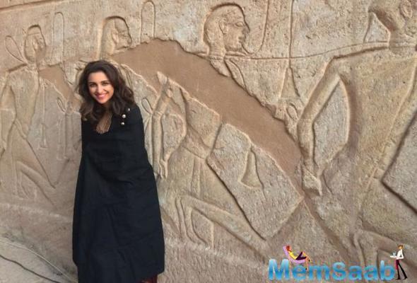 Parineeti Chopra's work trip to Egypt has doubled up as a break too