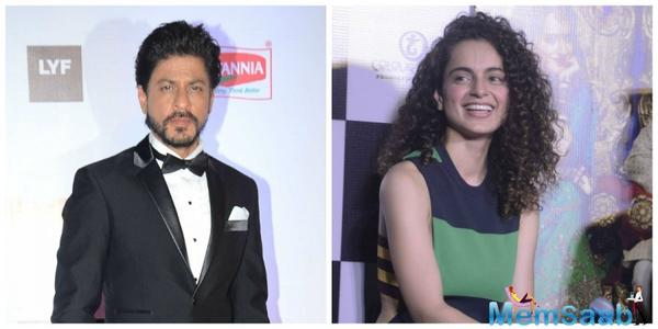 SRK opens up about refusing a film with Kangana