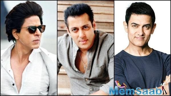 SRK: Salman, Aamir and I have worked hard to reach where we are today