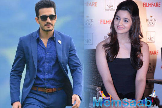 Nagarjuna's son Akhil Akkineni  has a wish that Alia Bhatt to be his heroine