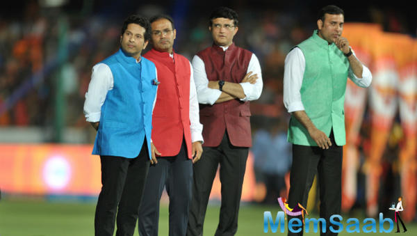 Cricket god Sachin Tendulkar and three other Indian cricket icons – Sourav Ganguly, Virender Sehwag and VVS Laxman – were felicitated by the BCCI yesterday for their contribution to the game.