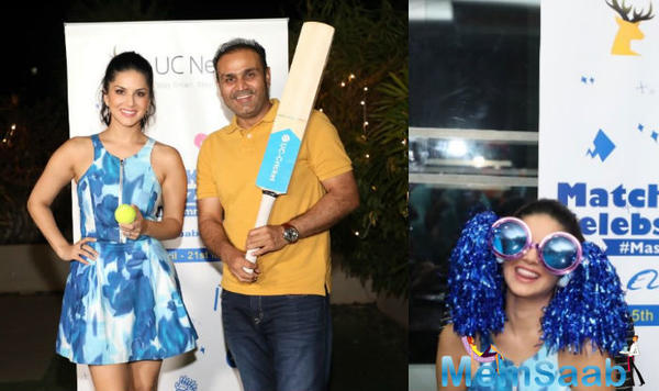 Sunny Leone turns commentator, gets a thumbs up from cricketer Virender Sehwag