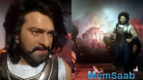 Baahubali aka Prabhas unveils his wax statue at Madame Tussauds