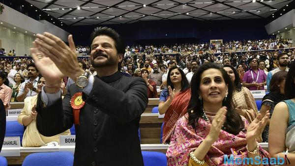 Proud moments: Akshay and Sonam receive their  first ever National Award at the 64th National Film Awards