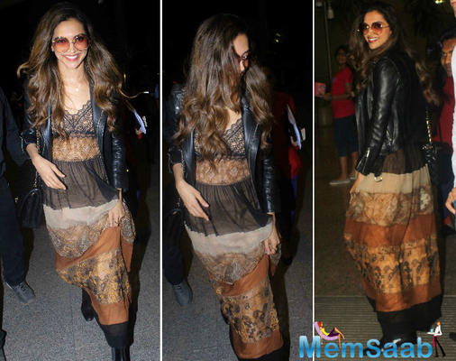 On the other hand, Deepika Padukone leaves for The 70th annual Cannes Film Festival.