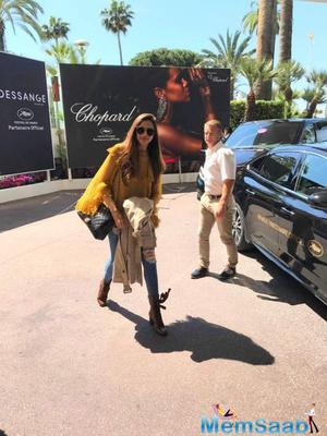 Deepika shares the first look of her from Cannes!