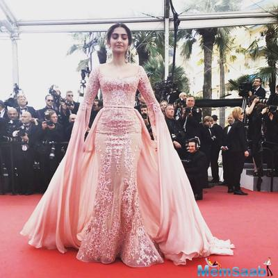 Cannes 2017: Fashion Queen Sonam Kapoor looks elegant at the red carpet