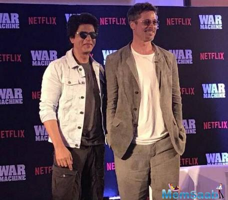 Brad Pitt promotes his upcoming flick War Machine in Mumbai, SRK chat session with Pitt