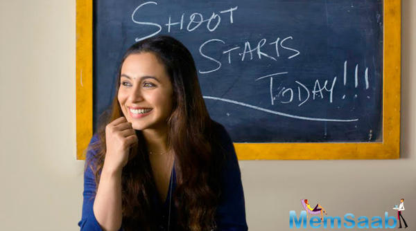In the first look of Hichki, which went on floors, we could see Rani leaning on a chair, in front of a blackboard, which gave rise to speculations that the actress will be seen as a teacher in the film.