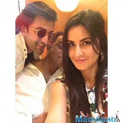 Katrina Kaif posts her first selfie with ex-beau Ranbir Kapoor