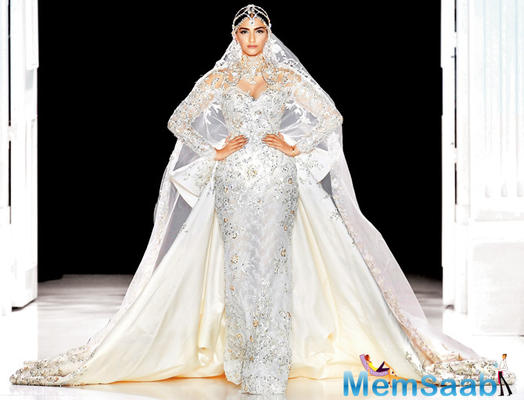 The Paris Couture Week 2017: Sonam look like a goddess in a white bridal gown