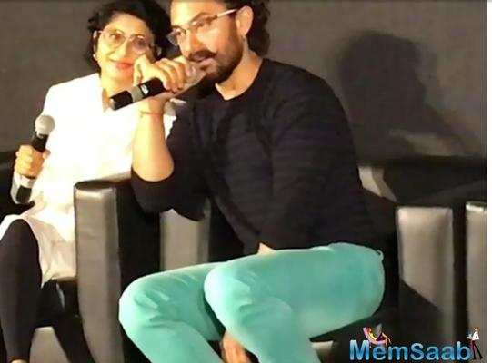 Aamir Khan revealed his wife Kiran is a wonderful actress and wants her to take it up seriously