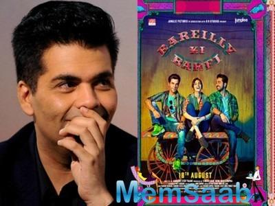 Karan Johar praises 'Bareilly Ki Barfi' and says it is warm, delightful