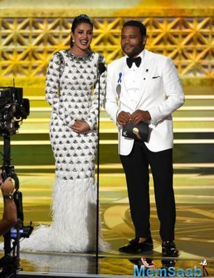 Priyanka Chopra dazzles in white as she introduces the award at Emmys 2017