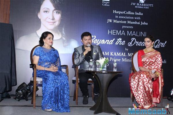 The biography, titled Beyond The Dream Girl, is written by veteran journalist Ram Kamal Mukherjee, and was unveiled on Hema Malini's 69th birthday which also marked her 50 glorious years in the film industry.